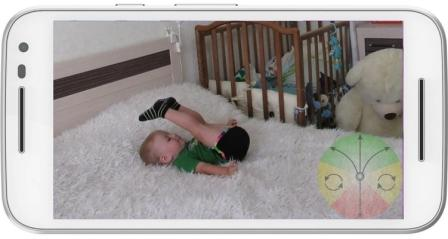 Video surveillance of a child