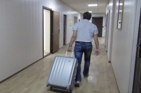 The robot can be placed in a suitcase