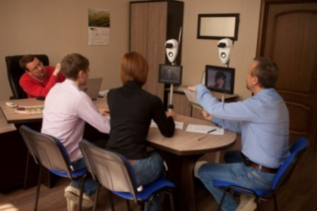 Hold meetings without returning from a trip - just teleport via robot